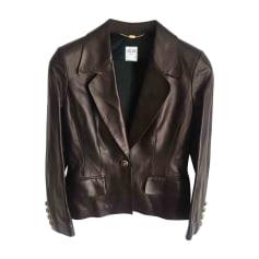 Leather Jacket CÉLINE Black