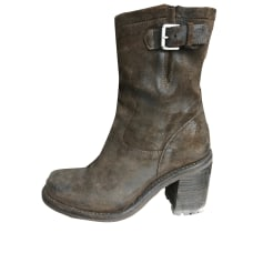 Biker Ankle Boots FREE LANCE Taupe