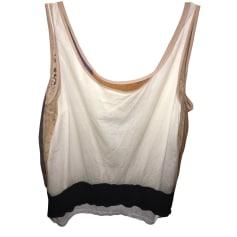 Top, t-shirt ALESSANDRO DELL'ACQUA Beige, cammello