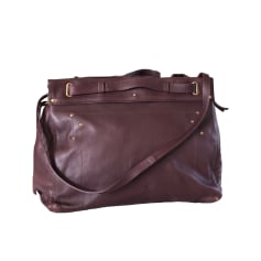 Leather Shoulder Bag JEROME DREYFUSS Red, burgundy
