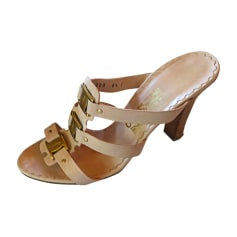 Heeled Sandals SALVATORE FERRAGAMO Beige, camel