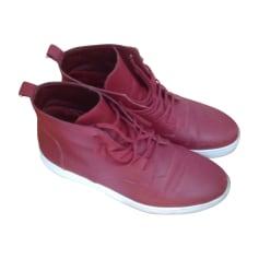 Chaussures à lacets CALVIN KLEIN Rouge, bordeaux