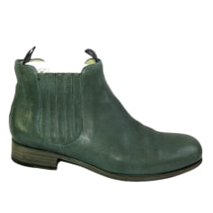 Flat Ankle Boots FREE LANCE Green