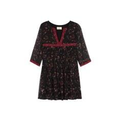 Robe tunique BA&SH Rouge, bordeaux
