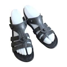 Flat Sandals BALENCIAGA Gray, charcoal