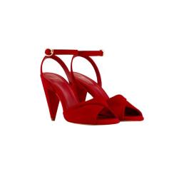 Sandali con tacchi MAJE Rosso, bordeaux