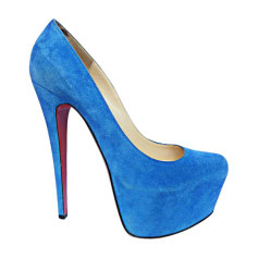 Escarpins CHRISTIAN LOUBOUTIN Daffodile Bleu, bleu marine, bleu turquoise