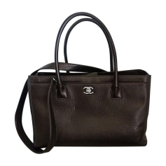Leather Handbag CHANEL Brown
