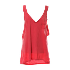 Top, tee-shirt RALPH LAUREN Rouge, bordeaux