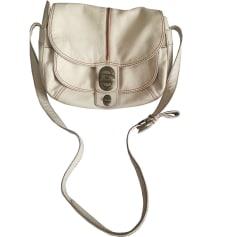Leather Shoulder Bag LANCEL White, off-white, ecru