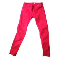 Pantalone slim, a sigaretta MAJE Rosso, bordeaux