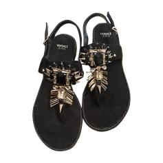 Flat Sandals VERSACE Black