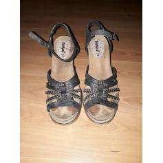 Sandales compensées KICKERS Noir