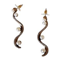 Boucles d'oreilles OSCAR DE LA RENTA Doré, bronze, cuivre