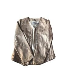 Veste en cuir ZADIG & VOLTAIRE Doré, bronze, cuivre