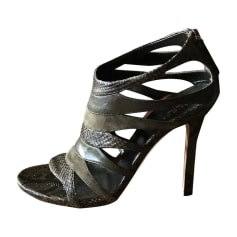 Sandales à talons GUCCI Kaki