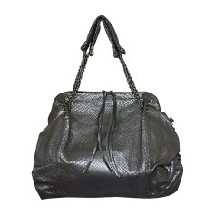 Leather Shoulder Bag BOTTEGA VENETA Silver