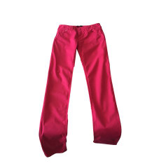 Pantalon slim, cigarette ARMANI JEANS Rose, fuschia, vieux rose