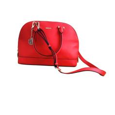 Sac à main en cuir DKNY Rose / rouge corail