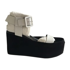 Wedge Sandals CÉLINE Black