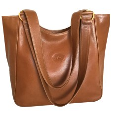 Leather Handbag LONGCHAMP Cognac