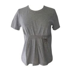 Top, tee-shirt LOUIS VUITTON Gris, anthracite