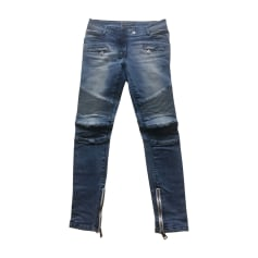 Jeans slim BALMAIN Bleu delavé jean's