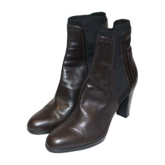 High Heel Ankle Boots SERGIO ROSSI Brown