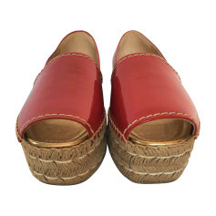 Espadrilles PRADA Red, burgundy