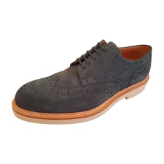 Lace Up Shoes LOUIS VUITTON Blue, navy, turquoise