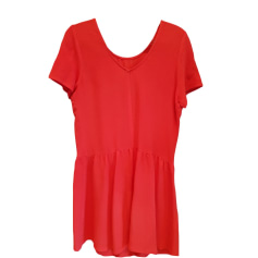 Midi-Kleid DES PETITS HAUTS Rot, bordeauxrot