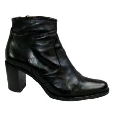 Santiags, bottines, low boots cowboy FREE LANCE Noir