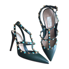 Heeled Sandals VALENTINO Green