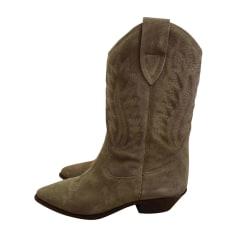Cowboy Boots ISABEL MARANT Beige, camel