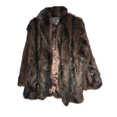 Manteau en fourrure SANDRO Marron