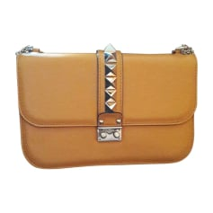 Leather Shoulder Bag VALENTINO Orange