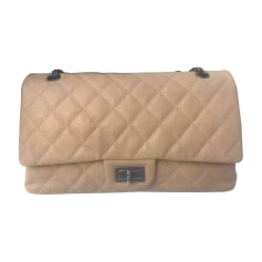 Leather Shoulder Bag CHANEL 2.55 Beige, camel