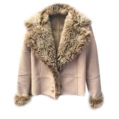 Manteau en fourrure THE KOOPLES Blanc, blanc cassé, écru