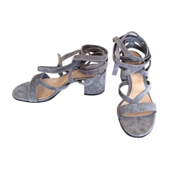 Sandales à talons GIANVITO ROSSI Gris, anthracite