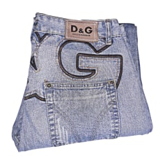 Jeans largo DOLCE & GABBANA Blu, blu navy, turchese