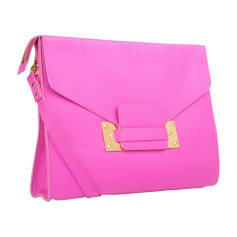Leather Clutch SOPHIE HULME Pink, fuchsia, light pink