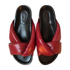 Flat Sandals CHLOÉ Red, burgundy