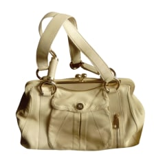 Leather Handbag CÉLINE White, off-white, ecru
