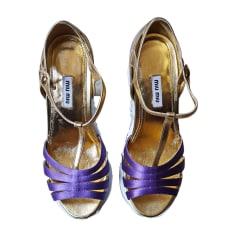 Escarpins à bouts ouverts MIU MIU Violet, mauve, lavande
