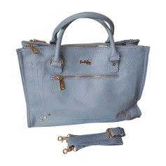 Sac en bandoulière en cuir PAUL & JOE Bleu, bleu marine, bleu turquoise