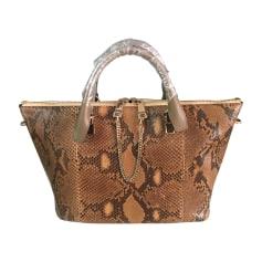 Leather Handbag CHLOÉ Baylee Beige, camel