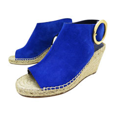 Wedge Sandals CÉLINE Blue, navy, turquoise