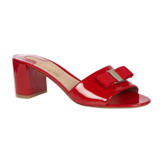 Mules SALVATORE FERRAGAMO Red, burgundy