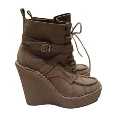 Bottines & low boots à compensés PIERRE HARDY Beige, camel