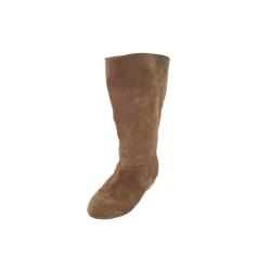 Flat Boots COMPTOIR DES COTONNIERS Beige, camel